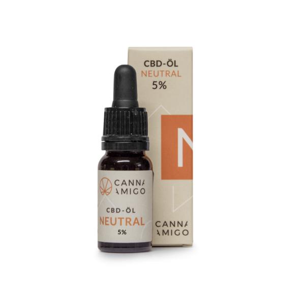 CBD Öl neutral 5% mit Verpackung