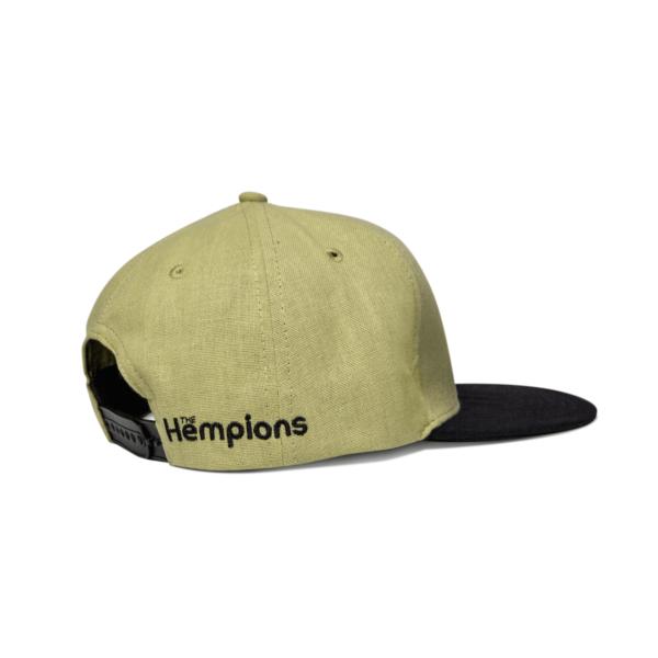 The Hempions Hanf-Cap in braun Produktfoto seitlich