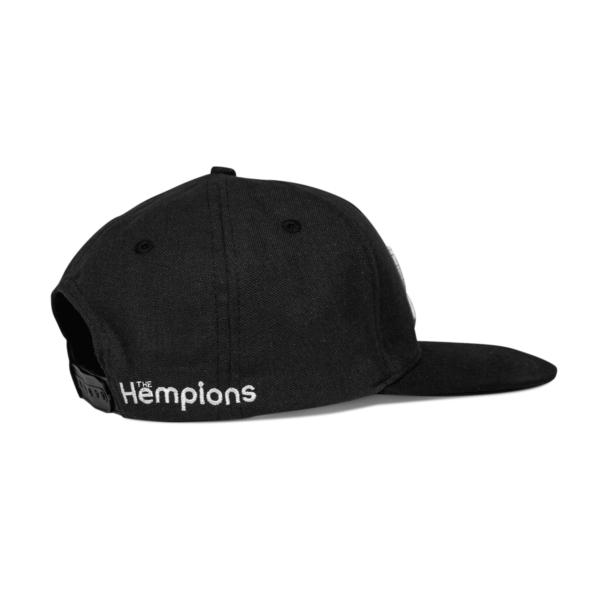 The Hempions Hanf-Cap in schwarz Produktfoto seitlich