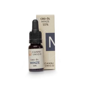 CBD Öl Minze 10% mit Verpackung
