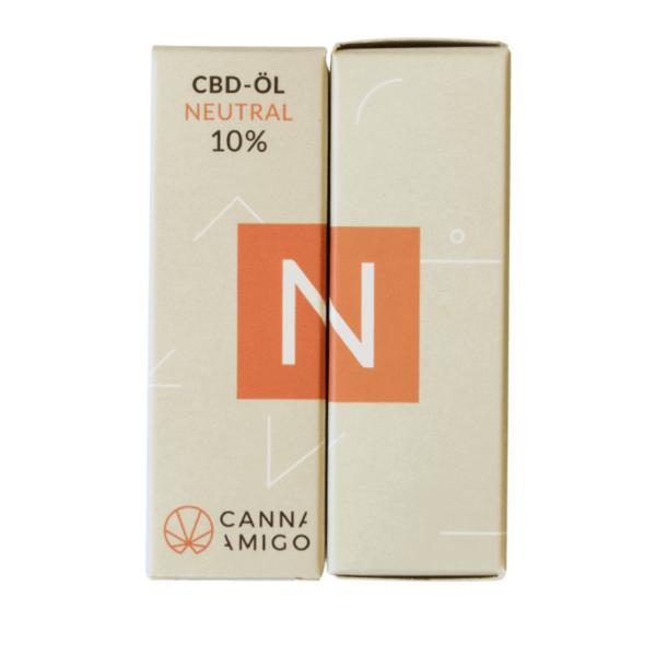 CBD-Öl neutral 10% von Cannamigo in der Verpackung