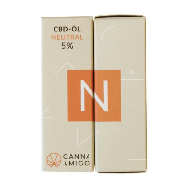 CBD-Öl neutral 5% von Cannamigo in der Verpackung